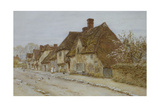 A Village Street, Kent Giclee Print by Helen Allingham