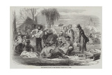 The Christmas Pic-Nic at the Diggings Giclee Print by Henry George Hine
