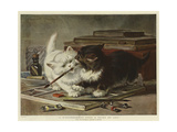 A Disagreement Upon a Point of Art Giclee Print by Henriette Ronner-Knip