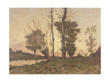 Landscape with a Stream Giclee Print by Henri-Joseph Harpignies