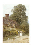 Old Post Office, Brook, Near Witley Giclee Print by Helen Allingham