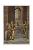 The Pope's Swiss Guards at the Vatican Giclee Print by Harry Hamilton Johnston