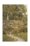 Cottage at Farringford, Isle of Wight Giclee Print by Helen Allingham