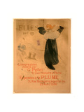 Poster for Elles, French, 1864 1901, 1896, Lithograph in Olive Green, Blue, and Orange Lámina giclée por Henri de Toulouse-Lautrec