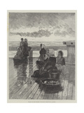 Waiting for the Toilers of the Sea Giclee Print by Hector Caffieri