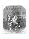 Refugees from Northern Missouri Entering St. Louis, Pub. C.1894 Giclee Print by Henry Louis Stephens