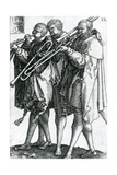 The Brass Players from the Series 'The Great Wedding Dances' 1538 Giclee Print by Heinrich Aldegrever