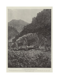 A Boer Method of Getting Wagons Down Steep Places Giclee Print by Henry Charles Seppings Wright
