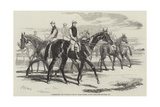 Imperieuse, the Winner of the St Leger Stakes, at the Doncaster Meeting, 1857 Giclee Print by Harry Hall