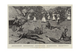 A Slave Raid in Central Africa Giclee Print by Harry Hamilton Johnston
