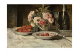 Strawberries with Champagne Giclee Print by Henri De Braekeleer