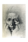 Study for Self-Portrait, by Henry Fuseli (1741-1825). Switzerland, 18th Century Giclee Print by Henry Fuseli