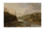 Cheever's Mill on the St. Croix River, 1847 Giclee Print by Henry Lewis