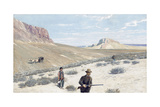 Theodore Roosevelt 'Sage Grouse Shooting' (Watercolor and Gouache on Paper) Giclee Print by Henry Francois Farny