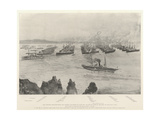 The Combined Mediterranean and Channel Squadrons in Lagos Bay Giclee Print by Henry Charles Seppings Wright