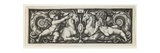 Ornament with Two Genii Riding on Two Chimeras, 1544 Giclee Print by Hans Sebald Beham