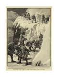 The Advance Guard of the 4th Kashmir Rifles Cutting a Road in the Snow Giclée-tryk af Henry Marriott Paget