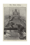 The Construction of Tower Bridge, London Giclee Print by Henri Lanos