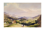 Carlist Fort El Parque with Fuentarabia and Mouth of the Bidassoa, 1838 Giclee Print by Henry Wilkinson