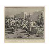 A Sham Fight at Berber, the 9th Soudanese Regiment Charging Giclee Print by Henry Marriott Paget