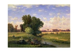 Hackensack Meadows, Sunset, 1859 Giclee Print by George Snr. Inness