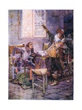 De La Tour Refuses to Yield His Allegiance 1630, C.1920 Giclee Print by Henry Sandham