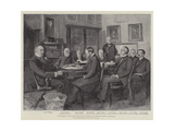 The President of the United States and His Cabinet at the Executive Mansion, Washington Giclee Print by Henry Charles Seppings Wright