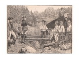 Washington and His Men at the Valley Forge Ad 1777 Giclee Print by Henry Marriott Paget