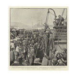 Off to Crete, Greek Troops Embarking at Piraeus Giclee Print by Henry Marriott Paget