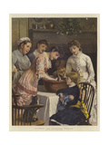 Stirring the Christmas Pudding Giclee Print by Henry Woods