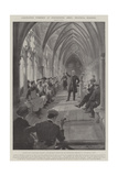 Coronation Workmen at Westminster Abbey, Practical Religion Giclee Print by G.S. Amato