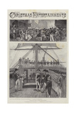 Christmas Entertainments Giclee Print by Henry Charles Seppings Wright