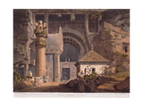 Ancient Excavations at Carli, 1824 Giclee Print by Henry Salt