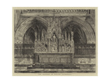 The Reredos in Exeter Cathedral Giclee Print by Henry William Brewer