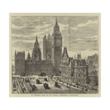 St Stephen's Club, on the Victoria Embankment, Westminster Giclee Print by Henry William Brewer