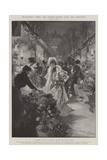 Picturesque Paris, the Flower Market Near the Madeleine Giclee Print by G.S. Amato