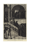 After the Trial, Antonio Receiving the Congratulations of His Friends, Merchant of Venice Giclee Print by Henry Wallis