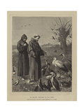 St Francis Preaches to the Birds Giclee Print by Henry Stacey Marks