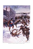 Maisonneuve Covering the Retreat of His Followers 1644, C.1920 Giclee Print by Henry Sandham