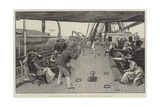 Deck Quoits on a P and O Steamer, A Ringer Giclee Print by Henry Marriott Paget