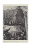 A Royal Explorer at Venice, the Duke of the Abruzzi Passing under the Ponte Di Rialto Giclee Print by G.S. Amato