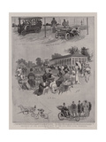 Sketches at the Automobile Show in the Old Deer Park, Richmond Giclee Print by Henry Marriott Paget