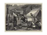 Camping Out in Colorado Giclee Print by Henry Woods