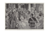 The Luncheon in the State Dining-Room, Buckingham Palace Giclee Print by G.S. Amato