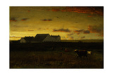 Farm Landscape, Cattle in Pasture, Sunset, Nantucket, C.1883 Giclee Print by George Snr. Inness