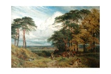 The Gypsy's Encampment and Nottingham from Wilford Hill, 1853 Giclee Print by Henry Dawson