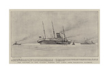 The Salving of the Paris, Towing the Liner into Falmouth Harbour Giclee Print by Henry Scott Tuke