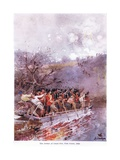 The Defeat of Louis Riel, Fish Creek, 1885, C.1920 Giclee Print by Henry Sandham