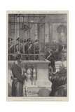 The Trial of King Humbert's Murderer Giclee Print by G.S. Amato