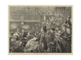 A Monday Popular Concert Giclee Print by Henry Woods